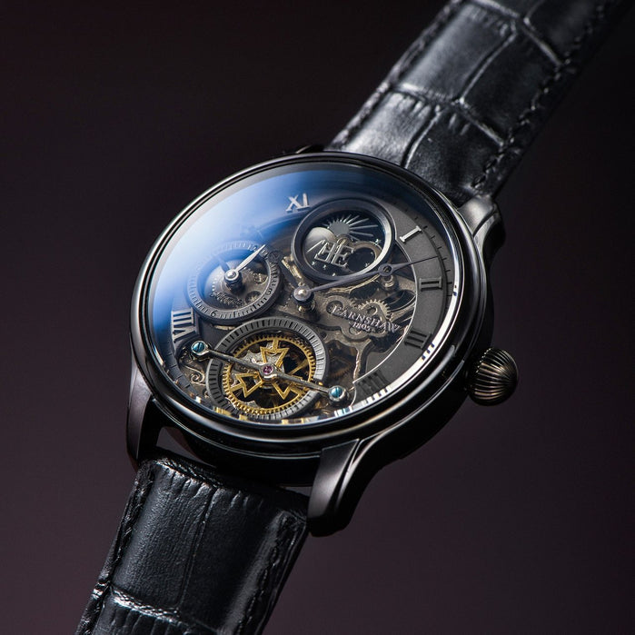 Thomas Earnshaw Longitude Shadow Automatic Black Grey angled shot picture