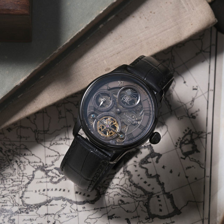 Thomas Earnshaw Longitude Shadow Automatic Black Grey