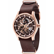 Thomas Earnshaw Beagle Automatic Woolwich Edition Rose Gold Brown