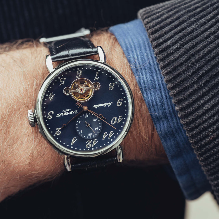 Thomas Earnshaw Grand Legacy Automatic Black angled shot picture