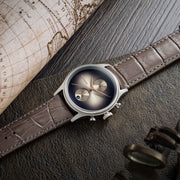 Thomas Earnshaw Bauer Fume Chronograph Brown Silver