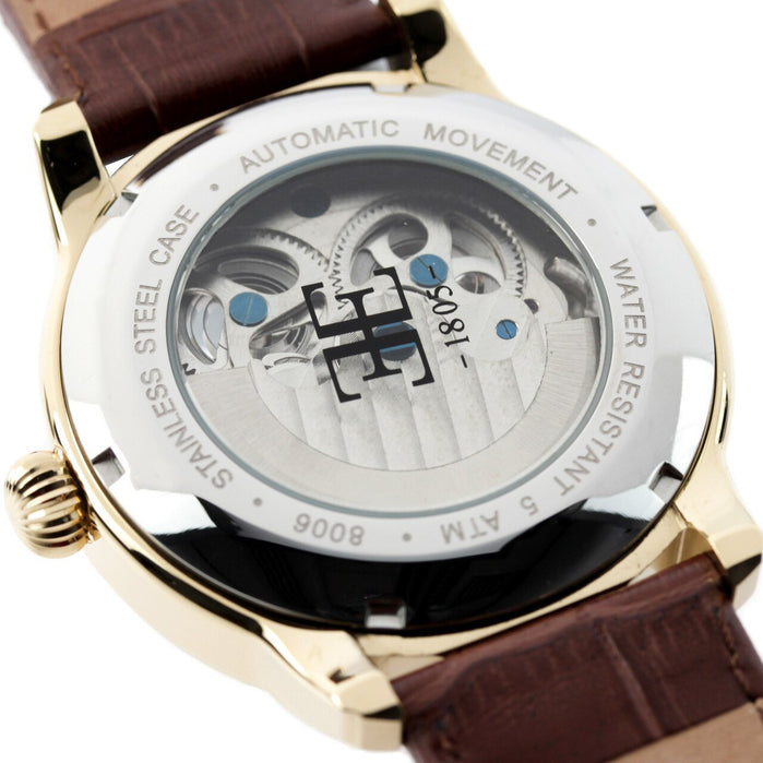 Thomas Earnshaw Longitude Automatic Brown Gold angled shot picture