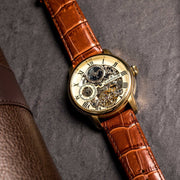 Thomas Earnshaw Longitude Automatic Brown Gold