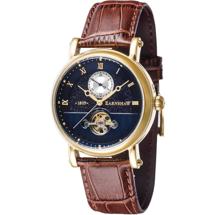 Thomas Earnshaw Maskelyne Celestial Automatic Blue Brown Gold angled shot picture