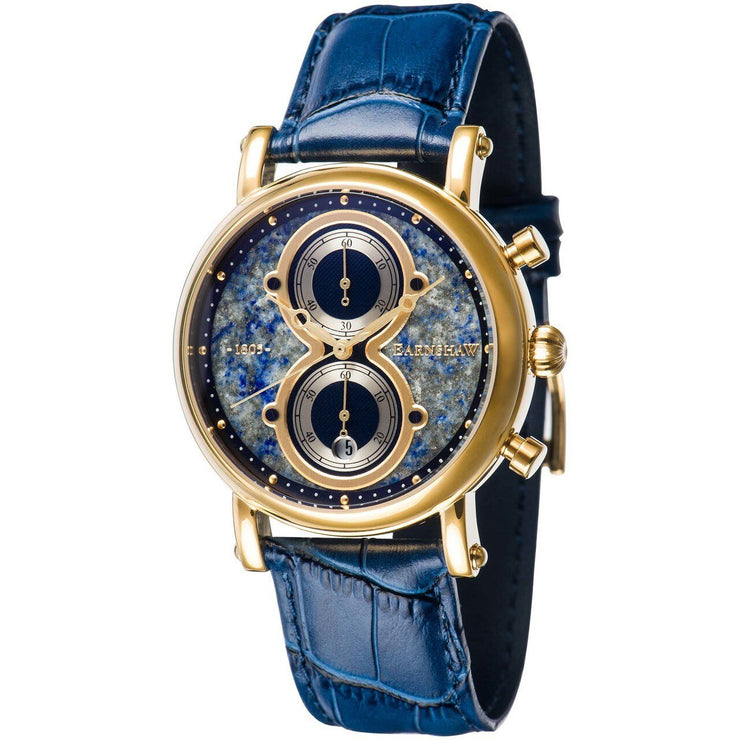 Thomas Earnshaw Maskelyne Chronograph Lapis Blue Gold