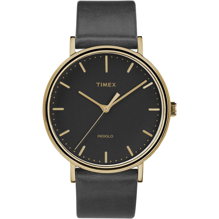 Timex Fairfield Three Hand Gold Black
