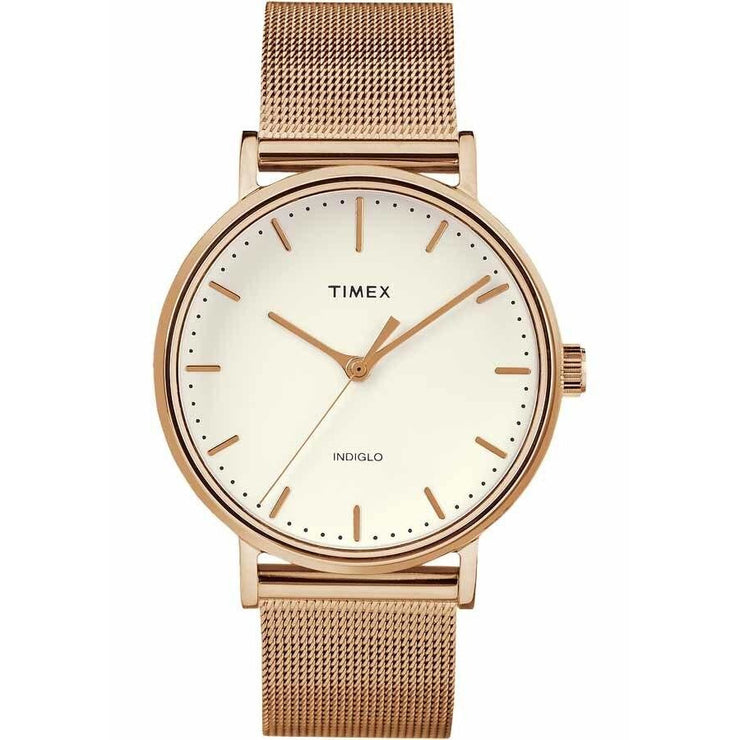 Timex Fairfield 37mm Rose Gold Mesh