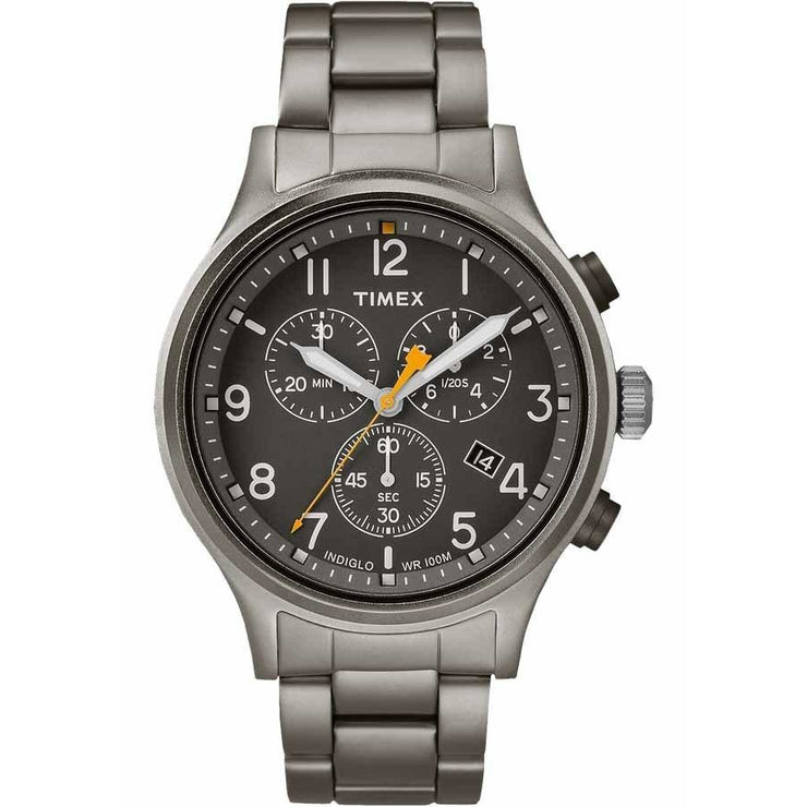Timex Allied Chrono Black Grey SS