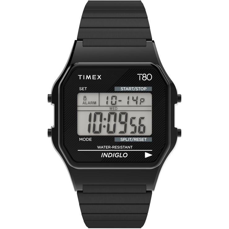 Timex T80 Digital Black SS Expansion Band