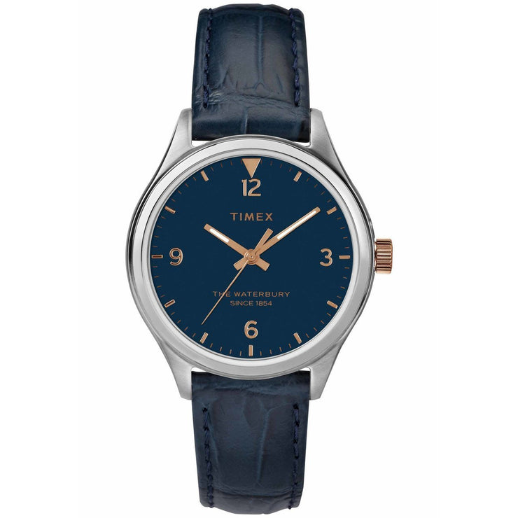 Timex Waterbury 34mm Silver Blue