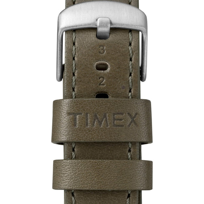 Timex Waterbury Traditional Silver Olive angled shot picture