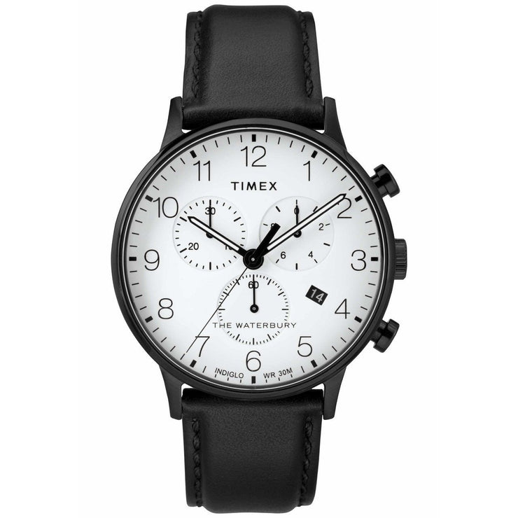 Timex Waterbury Classic Chrono Black White