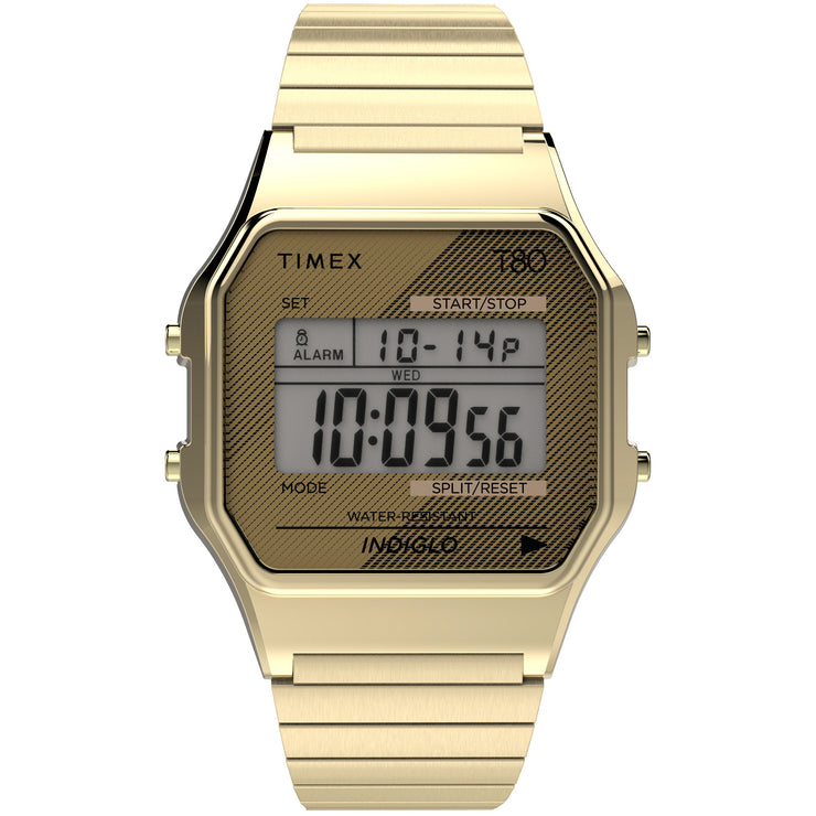Timex T80 Digital Gold SS Expansion Band
