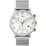 Timex Waterbury Classic Chronograph 40mm Silver Gold