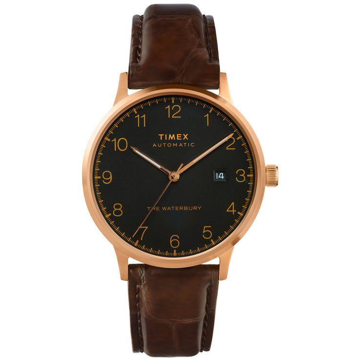 Timex Waterbury Classic Automatic 40mm Brown Black