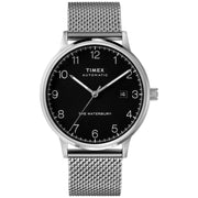 Timex Waterbury Clasic Automatic 40mm Silver Black Mesh