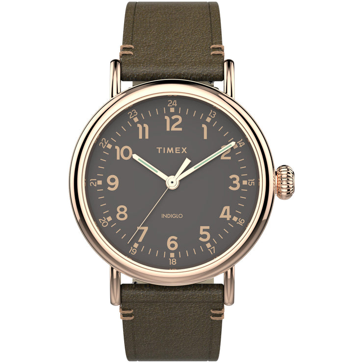 Timex Standard 41mm Brown Gold