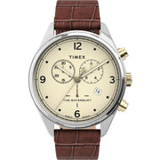 Timex Waterbury Traditional 42mm Chronograph Beige Brown