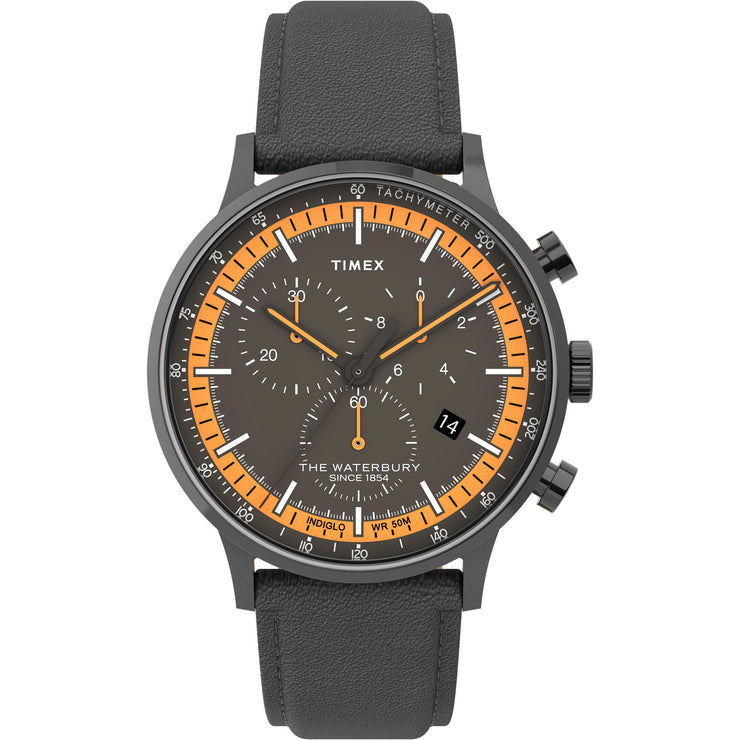 Timex Waterbury Classic 40mm Chronograph Black Orange
