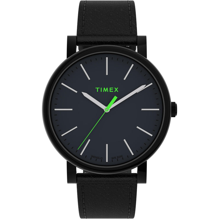 Timex Originals 42mm Black Neon Green