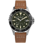 Timex Navi XL 41mm Automatic Green Brown