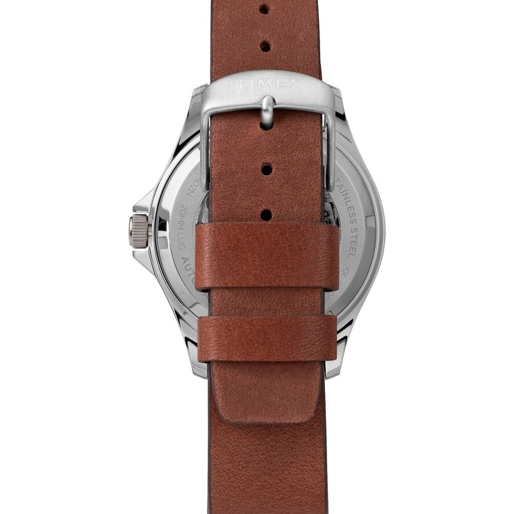 Timex Navi XL 41mm Automatic Red Brown