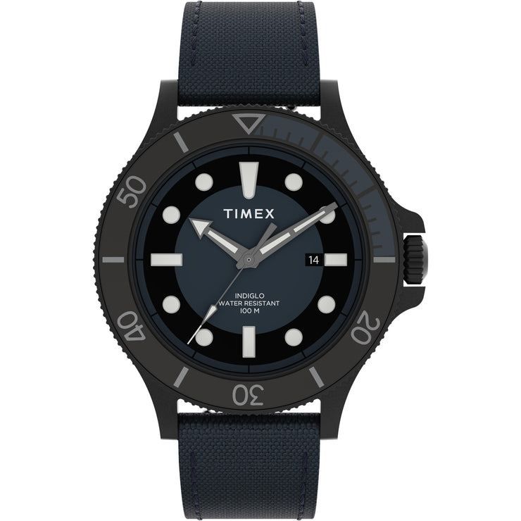 Timex Allied Coastline 43mm Black Blue