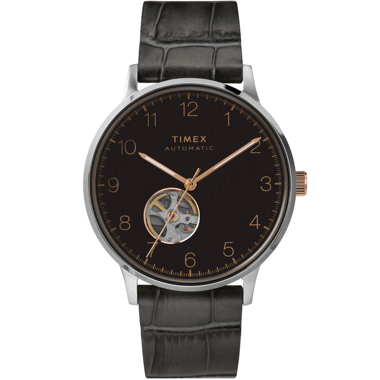 Timex Waterbury Classic 40mm Automatic Open Heart Black
