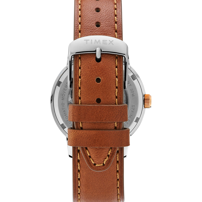 Timex Marlin 40mm Automatic Silver Rose Gold angled shot picture