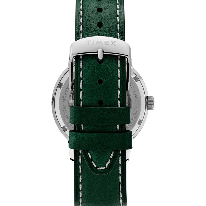 Timex Marlin 40mm Automatic Silver Green angled shot picture