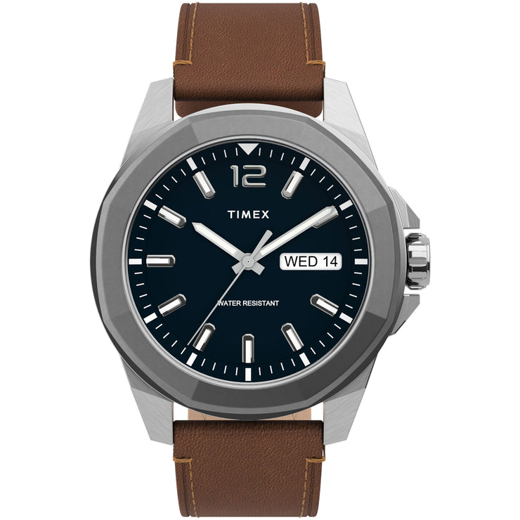 Timex Essex Avenue 44mm Blue Brown