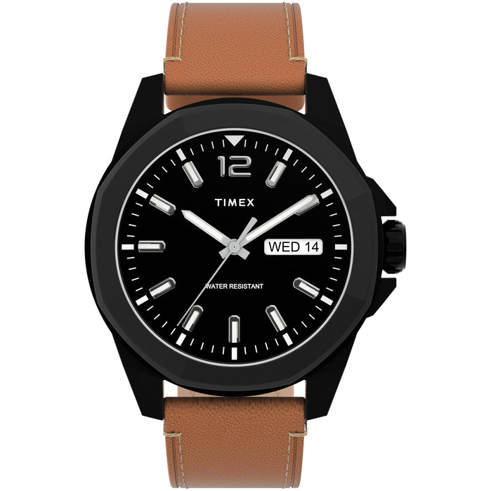 Timex Essex Avenue 44mm Black Tan angled shot picture
