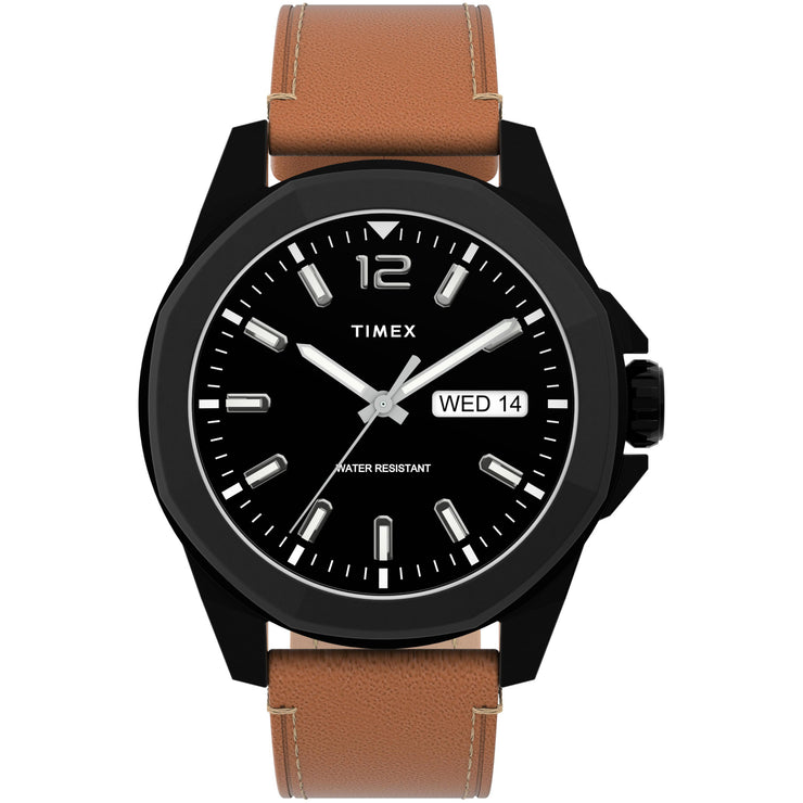 Timex Essex Avenue 44mm Black Tan