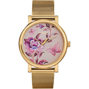 Timex Full Bloom 38mm Floral Gold SS