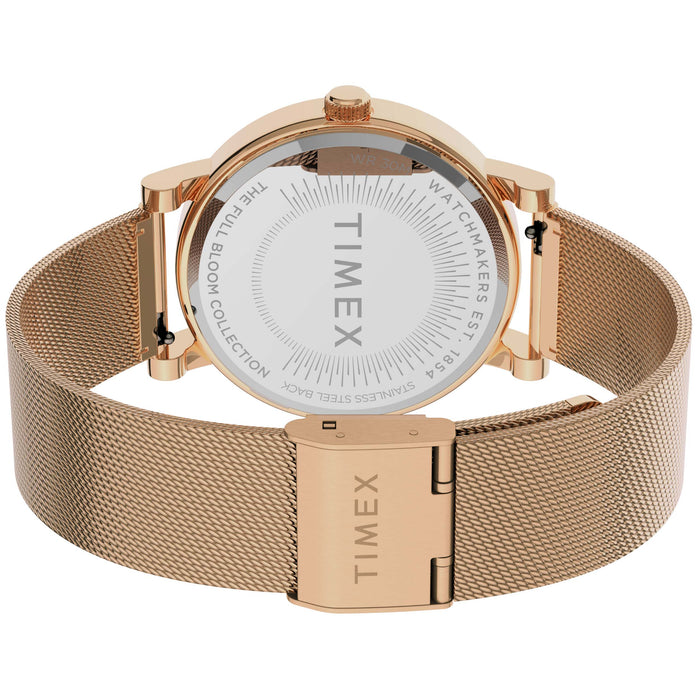 Timex Full Bloom 38mm Floral Rose Gold Pink angled shot picture