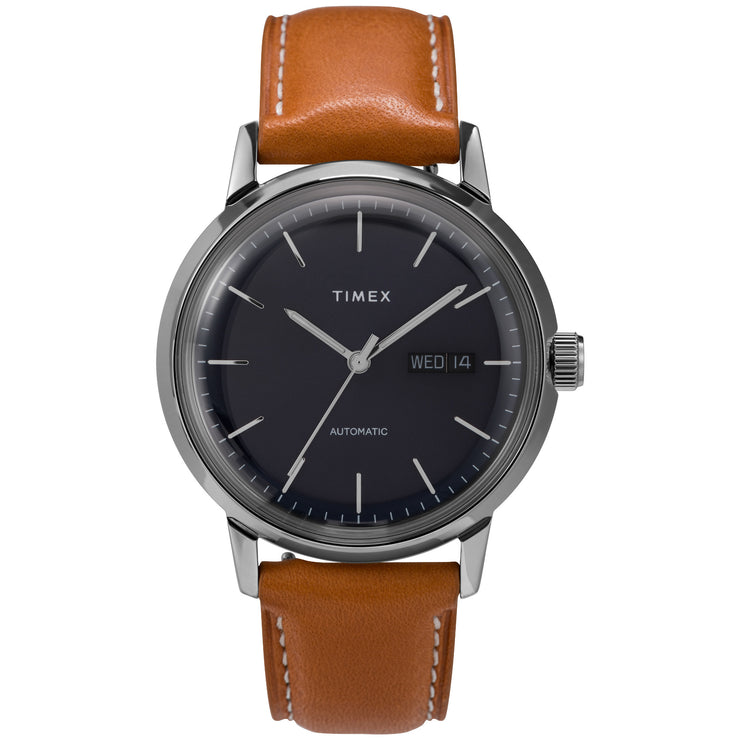 Timex Marlin 40mm Automatic Blue Brown