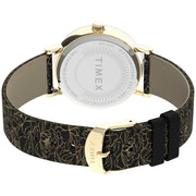 Timex Fairfield Floral 37mm Gold Black