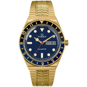 Timex Q 1979 Reissue 38mm Gold Blue