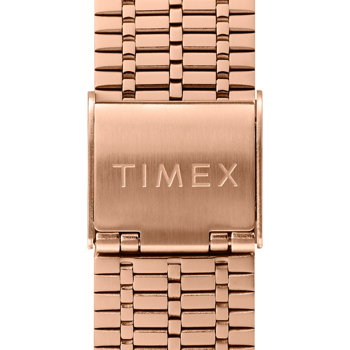 Timex Q 1979 Reissue 38mm Rose Gold Black angled shot picture
