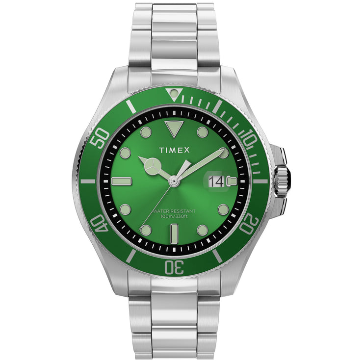 Timex Harborside Coast 43mm Silver Green