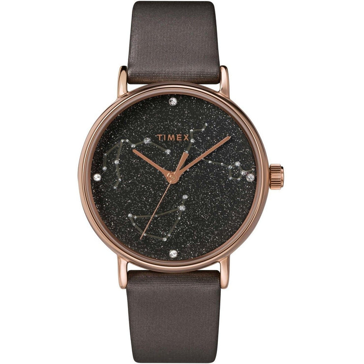 Timex Celestial Opulence Crystal 37mm Titanium Brown