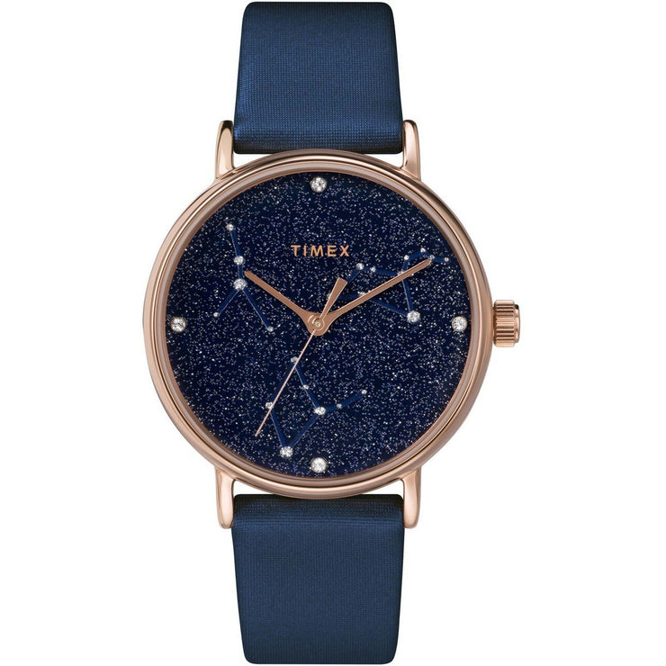 Timex Celestial Opulence Crystal 37mm Rose Gold Blue