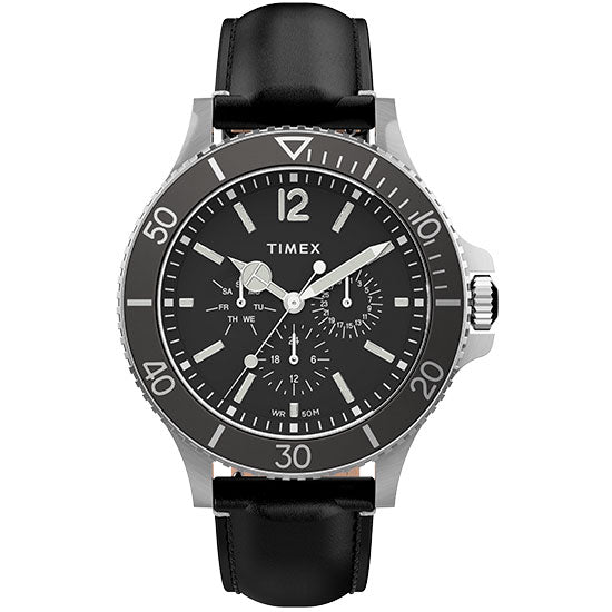 Timex Harborside Multifunction 42mm Black angled shot picture