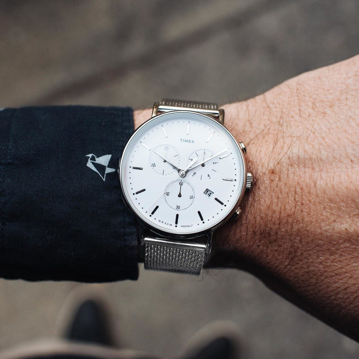 Timex Fairfield Chrono Silver Mesh