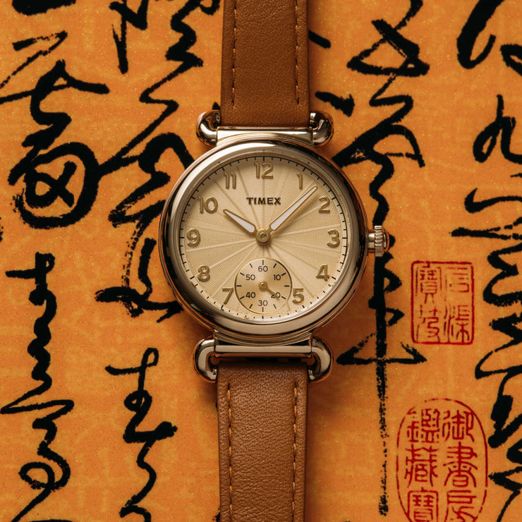 Timex Model 23 33mm Gold Tan