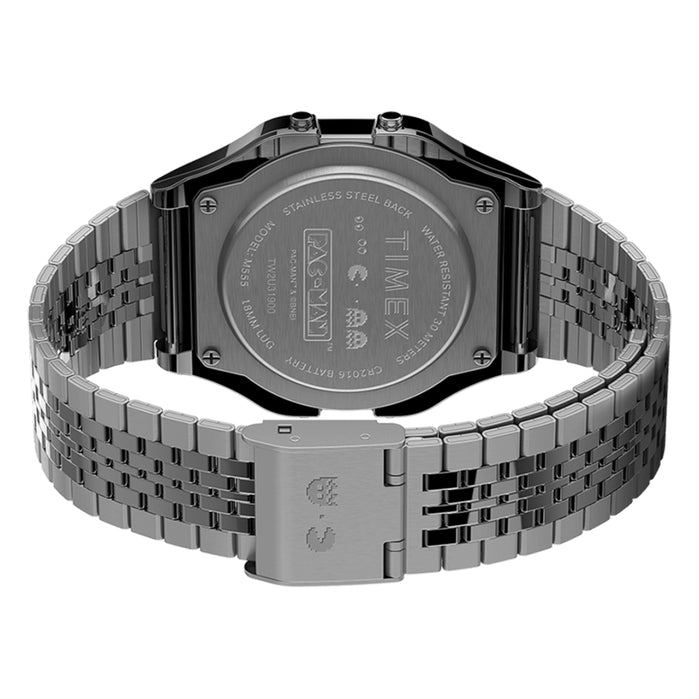 Timex T80 x PAC-MAN Digital Silver SS angled shot picture