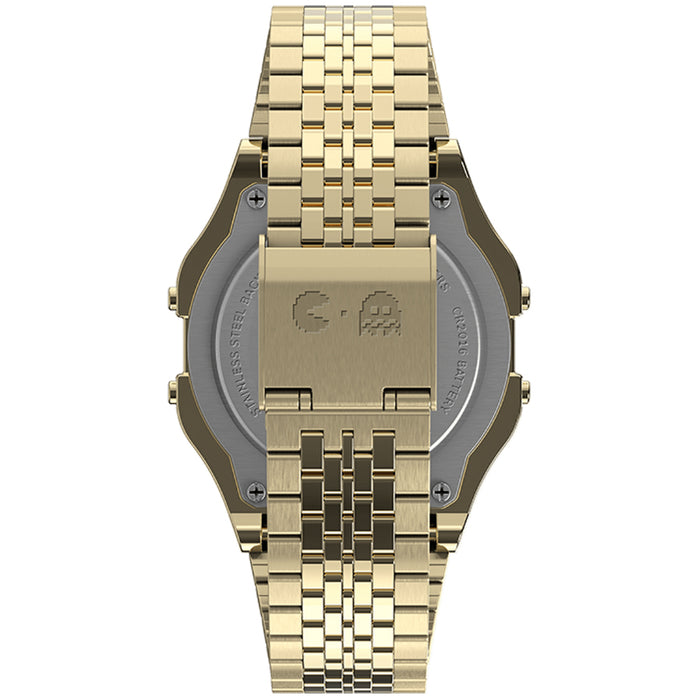 Timex T80 x PAC-MAN Digital Gold SS angled shot picture