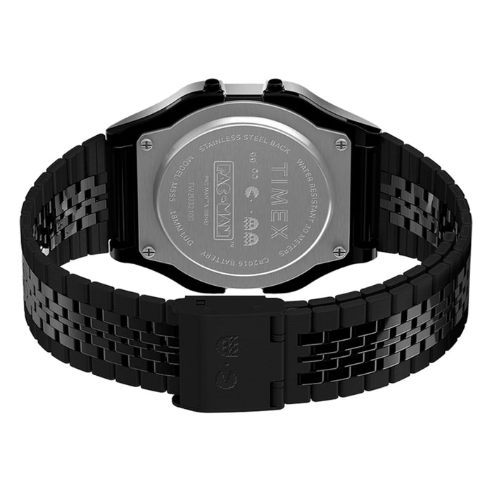 Timex T80 x PAC-MAN Digital Black SS angled shot picture