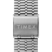 Timex Q 1979 Reissue 38mm Silver Green Black
