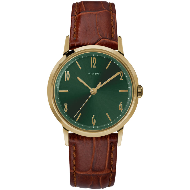 Timex Marlin 34mm Hand Wind Todd Snyder Exclusive Gold Green